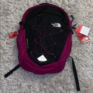 NWT The North Face Borealis Backpack Pink/ Black